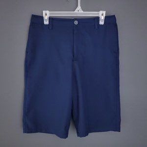 UNDER ARMOUR Long Shorts Youth XL Flat Front Blue